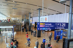 Photo of a busy airport