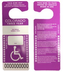 Image of Colorado's purple placard